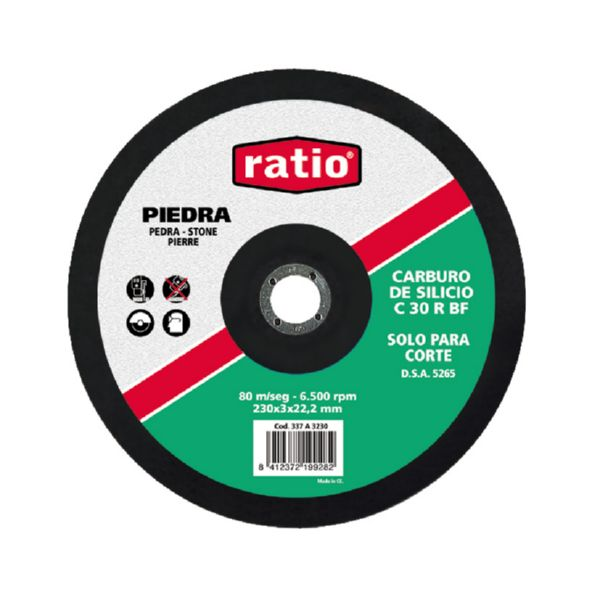 DISCO RATIO CORTE PIEDRA 115 (UND/25)