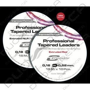 PROFESSIONAL TAPER LEADERS 0.20-0.57 CINNETIC RED